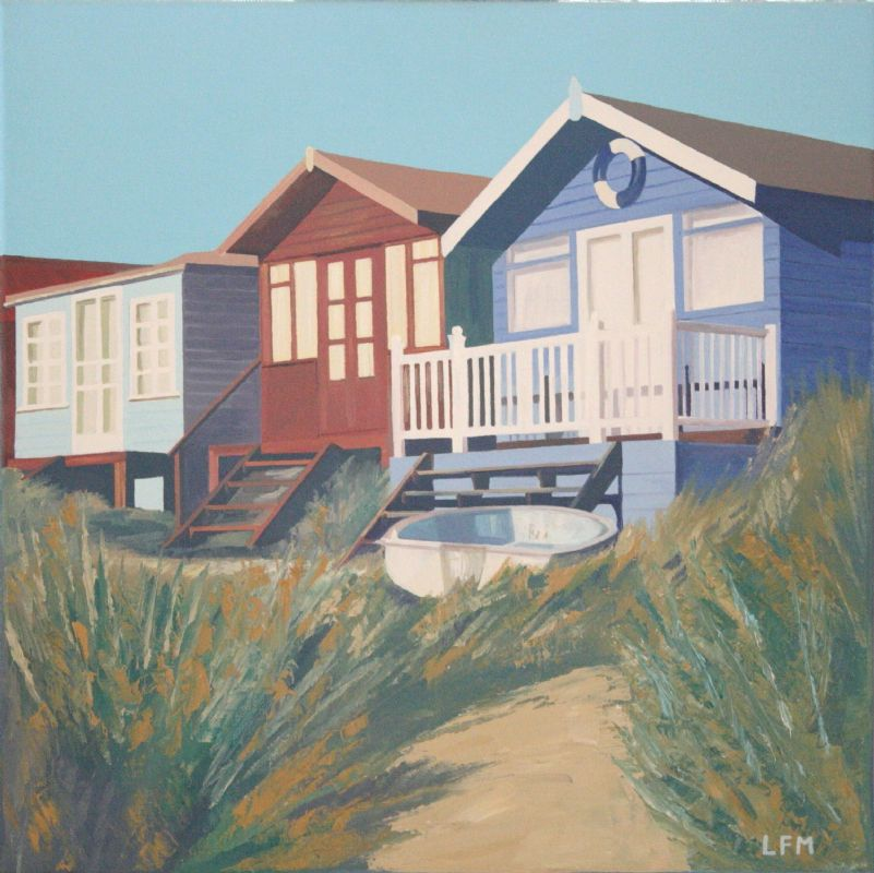 Beach Huts and Boat 2