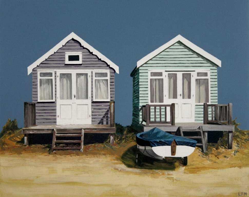 Two Beach Huts and Boat