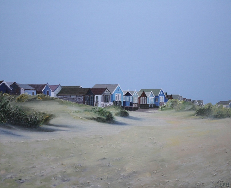 Beach Huts and Dunes.